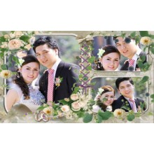 WEDDING COUPLE PHOTO FRAMES 3D