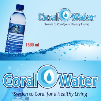 Coral Bottled Drinking Water - Box (1,500ml, 12 Bottles)