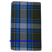 999 Blue  Cotton Check Lungi