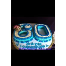 60th Birthday stars and dots cake