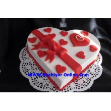 Hearts Of Love Cake